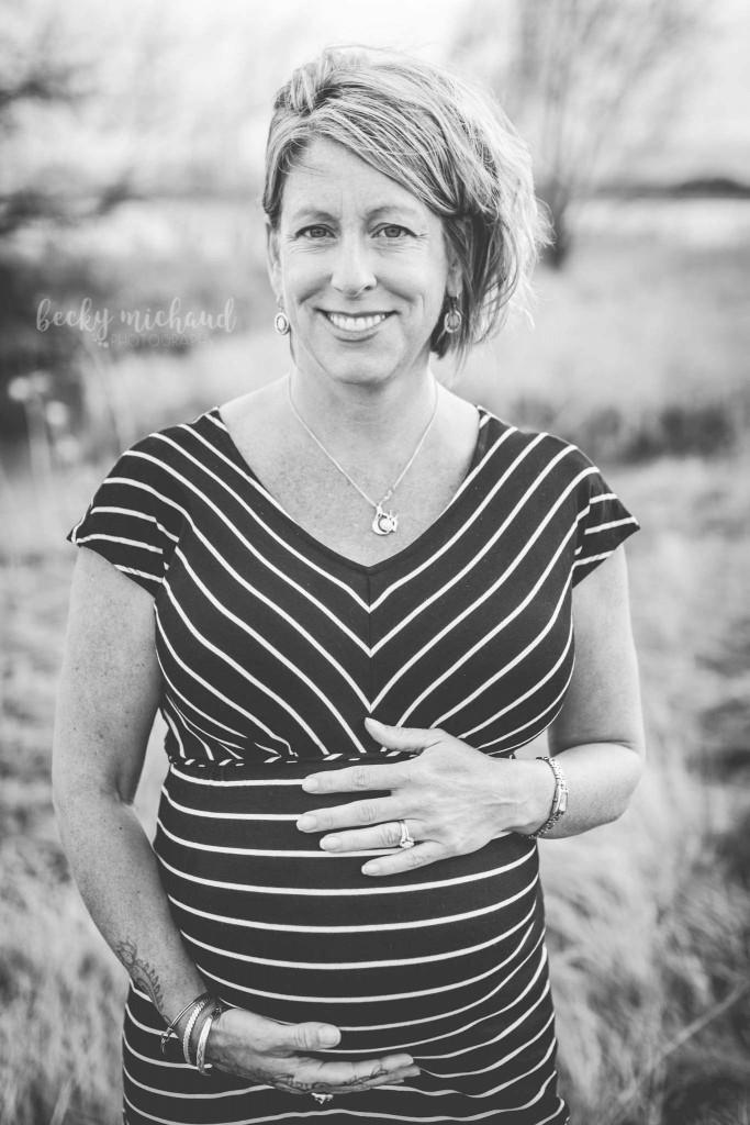 black and white pregnancy portrait in Loveland, Colorado