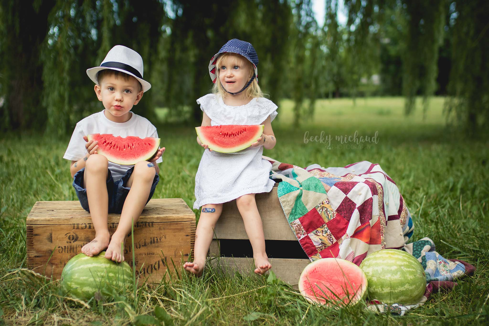 Becky Michaud Photography - Fort Collins - Watermelon Mini Sessions