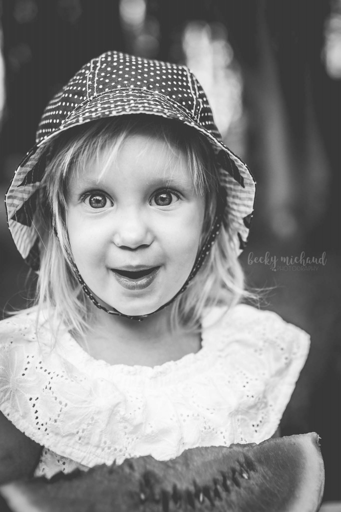 Toddler girl black and white potrait taken in Fort Collins, Colorado