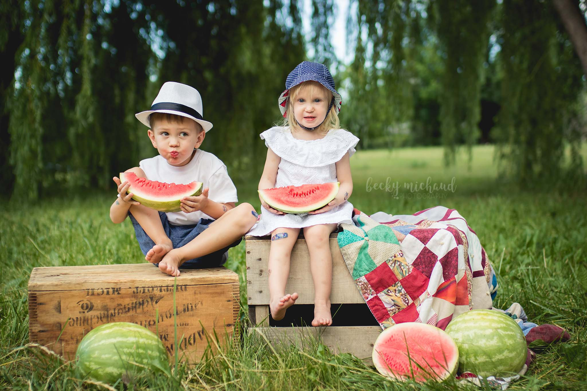 Watermelon Mini Session photo taken by Becky Michaud, Fort Collins photographer