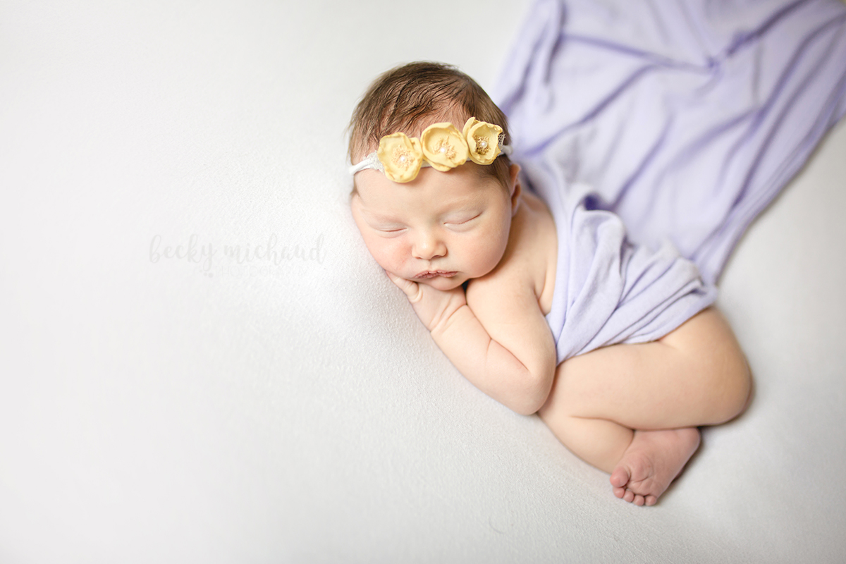 Newborn photo of a baby girl taken by Becky Michaud, Northern Colorado Photographer