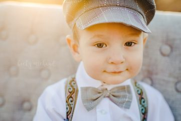 Portrait of a one year old boy taken by Becky Michaud, Fort Collins photographer