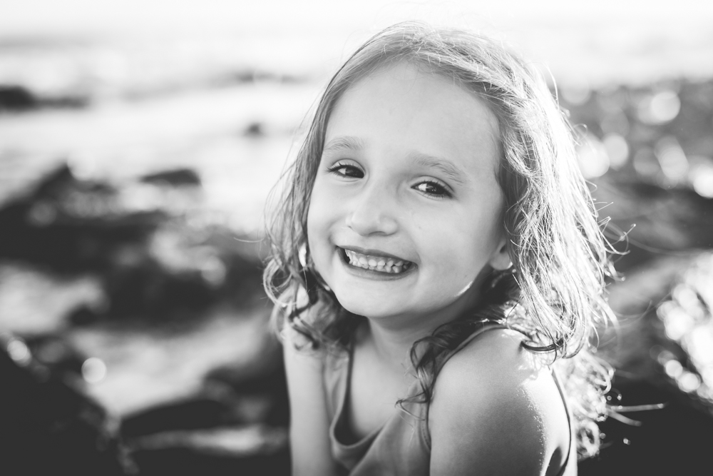 Black and white portrait of a little girl taken by Becky Michaud, family photographer for Fort Collins