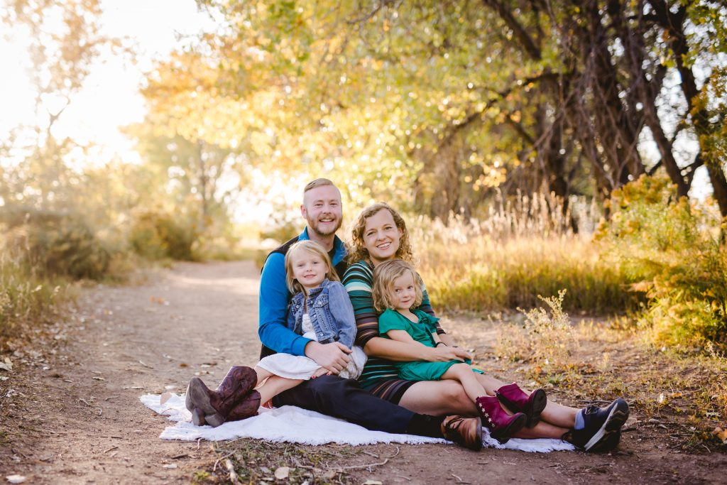 Fall family photography taken by Becky Michaud at a natural area in Fort Collins Colorado