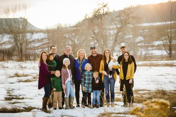 Photo from an extended family photo session at Spring Canyon Park in Fort Collins